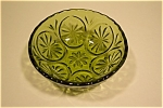 Click here to enlarge image and see more about item GFK014: Small Green Oven Glass Fire King Bowl