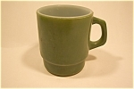 Green Fire King Mug With Square Type Handle