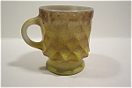 Click here to enlarge image and see more about item GFK036: Brownish-Yellow Kimberly Fire-King Mug