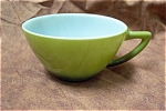 Click here to enlarge image and see more about item GFK051: Fire King Avocado Green Cup