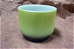 Click here to enlarge image and see more about item GFK054: Avocado Green Custard With Black Base