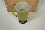 Fire King Green & Black Pedestal Mug