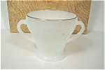 FireKing/Anchor Hocking  Swirl  Ivory Sugar Bowl