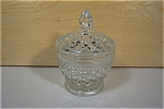 Anchor Hocking Wexford Crystal Sugar With Lid