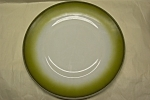 """Click here to enlarge image and see more about item GFK159: FIRE-KING Avacado 10"""" Plate"""