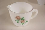 Click here to enlarge image and see more about item GFK162: Fire-King Anniversary Rose Creamer