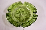 Click here to enlarge image and see more about item GFK174: FireKing Soreno Avacado  Green Ashtray