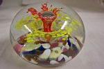Brownwood Glass Company Art Glass Paperweight