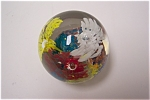 Click here to enlarge image and see more about item GPW009: Abstract Floral Paperweight