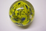 Abstract Multi-Colored Cased Glass Paperweight