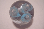 Click here to enlarge image and see more about item GPW103: Abstract Floral Design Paperweight