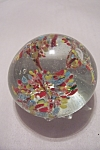 Abstract Multi-Colored Floral Design Paperweight