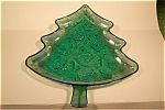 Imperial Purple Carnival Glass Cristmas Tree Tray