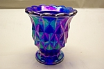 Vintage IMPERIAL Purple Carnival Glass Toothpick Holder