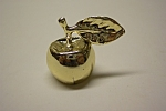 Click to view larger image of Gold Plated Miniature Apple Name Card Holder (Image1)