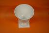 """Click to view larger image of Milk Glass 7"""" Footed Vase (Image2)"""