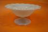 Click to view larger image of Open Lace Work Milk Glass Pedestal Bowl (Image2)