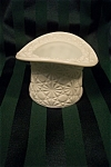 Click here to enlarge image and see more about item MG010: Daisy and Button Large Milk Glass Hat