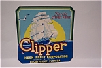 Clipper Orange Crate Label