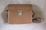 Click here to enlarge image and see more about item PHAS0001: Brown Leather Bell & Howell Movie Camera Case
