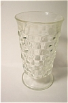 Click here to enlarge image and see more about item PRG003: Indiana Glass Footed Iced Tea Glasses