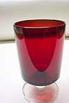 Click here to enlarge image and see more about item RG0003: ARCOROC Ruby & Crystal Glass Stemmed Tumbler