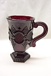 Click here to enlarge image and see more about item RG0005: Avon Cape Cod Ruby Red Glass Pedestal Mug