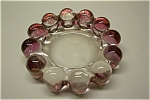 Cased Light Pink Art Glass Ash Tray