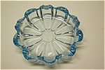 Light Blue Cased Glass Ash Tray