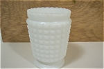 English Hobnail Milk Glass Toothpick Holder