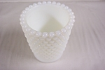 Vintage Opalescent Hobnail Milk Glass Toothpick Holder