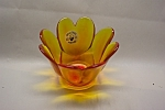 Click to view larger image of VIKING Amberina  Art Glass Small Vase/Candle Holder (Image1)