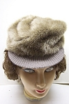 Click here to enlarge image and see more about item VWCH0003: Women's Faux Fur Billed Hat