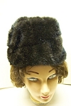 Click here to enlarge image and see more about item VWCH0004: Dark Brown Faux Fur Hat