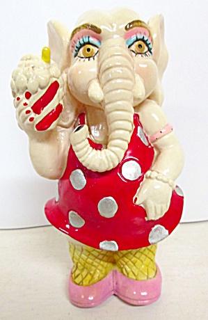 Elephant Bank Red Polka Dot Dress (Image1)