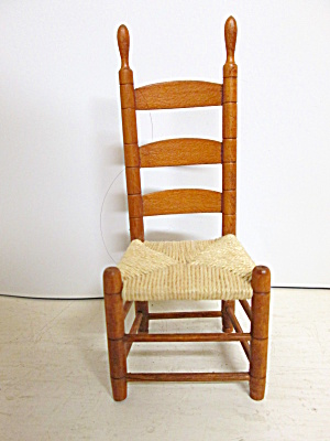 Dollhouse Chair Ladder-Back Rush Seat (Image1)