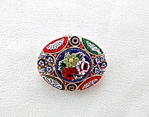Mosaic Brooch Italy Stunning Colors! (Image1)