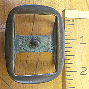 Antique Horse Harness Buckle Tack Center Post (Metalware-Bronze) at