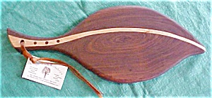 Cutting Board Leaf Shape Maple Walnut Inlay Laminate (Image1)