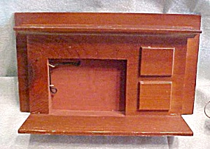 Dollhouse Fireplace Wood Country Style (Image1)