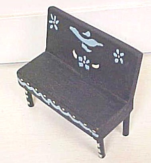 Dollhouse Bench Furniture Hand Painted Primitive (Image1)