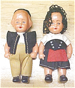 Celluloid Dolls Miniature Ethnic Clothing (Image1)