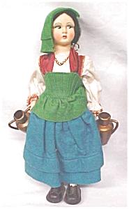 Lenci Style Doll Large + Ethnic Costume Italy (Image1)