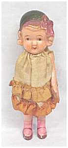 All Bisque Doll 1930's Miniature