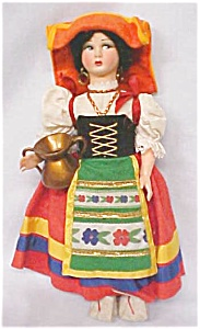 Doll Magis Roma Italy Felt Face 11 Inches Tall (Image1)