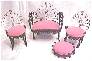 Miniature Settee & Chairs Victorian Doll House 4 PC (Image1)