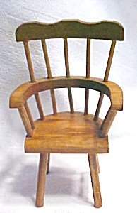 Doll House Windsor Chair & Table Wood (Image1)