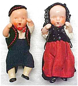 Bisque Dolls Miniature Ethnic Clothing Jointe (Image1)