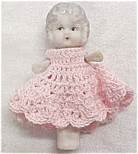 All Bisque Doll Flapper Style Pink Dress Miniature (Image1)