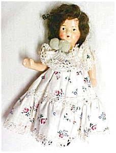 German Bisque Doll Jointed Mohair Wig Antique (Image1)